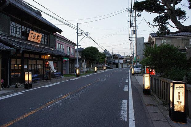 Nagareyama-Honcho and Japanese lanterns
